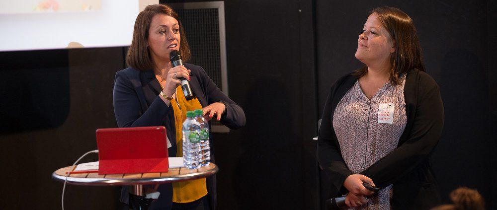 Flore Petit et Christelle Defarge expliquent les liens entre collaboration et innovation chez Babymoov.