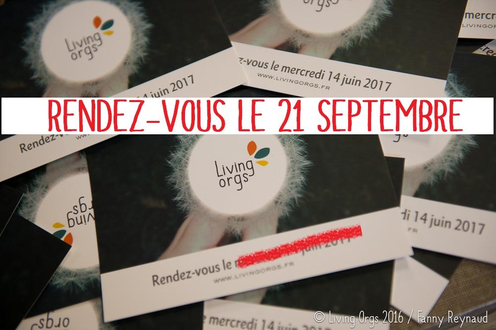 LivingOrgs est reporté au 21 septembre